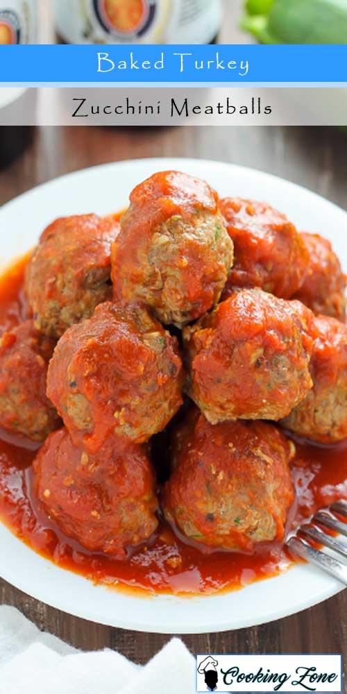 Baked Turkey Zucchini Meatballs