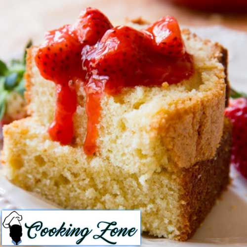 Brown Butter Pound Cake with Strawberry Compote