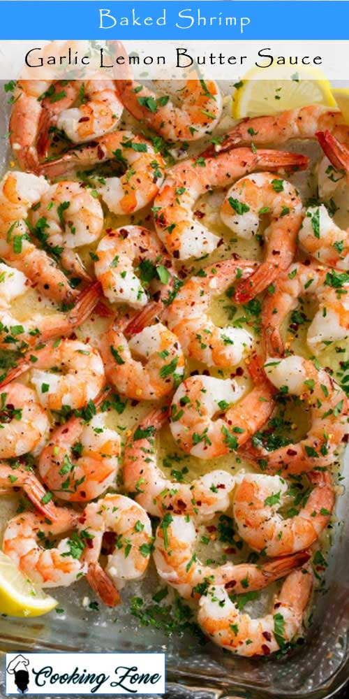 Baked Shrimp with Garlic Lemon Butter Sauce