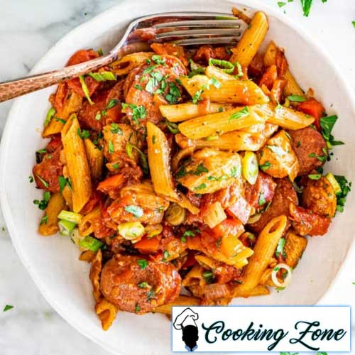 Chicken and Sausage Penne Jambalaya