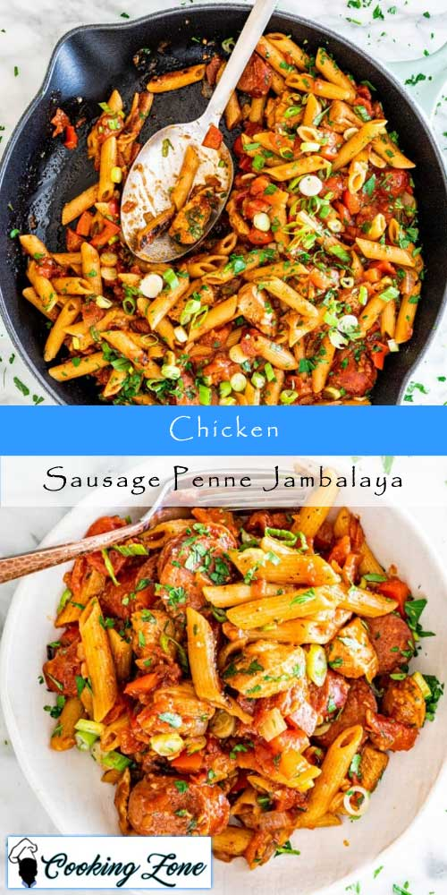Chicken and Sausage Penne Jambalaya