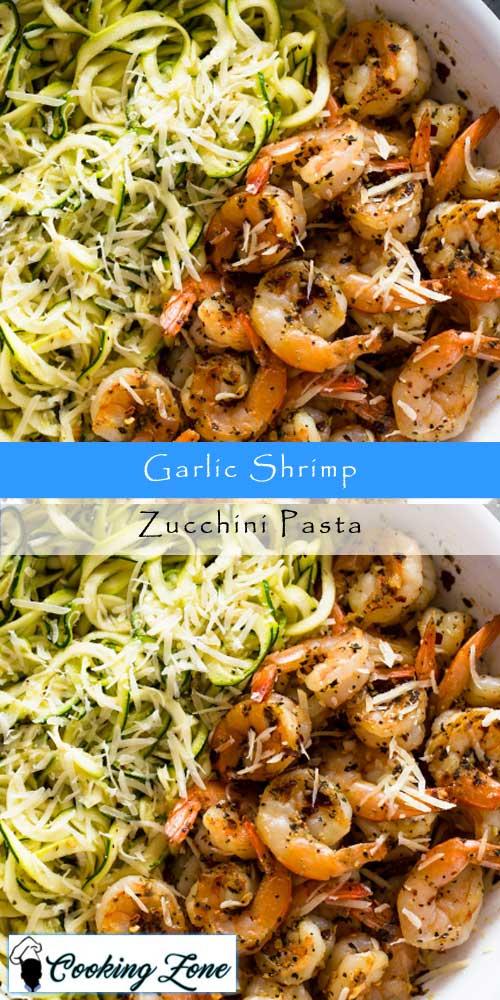 Garlic Shrimp Zucchini Pasta