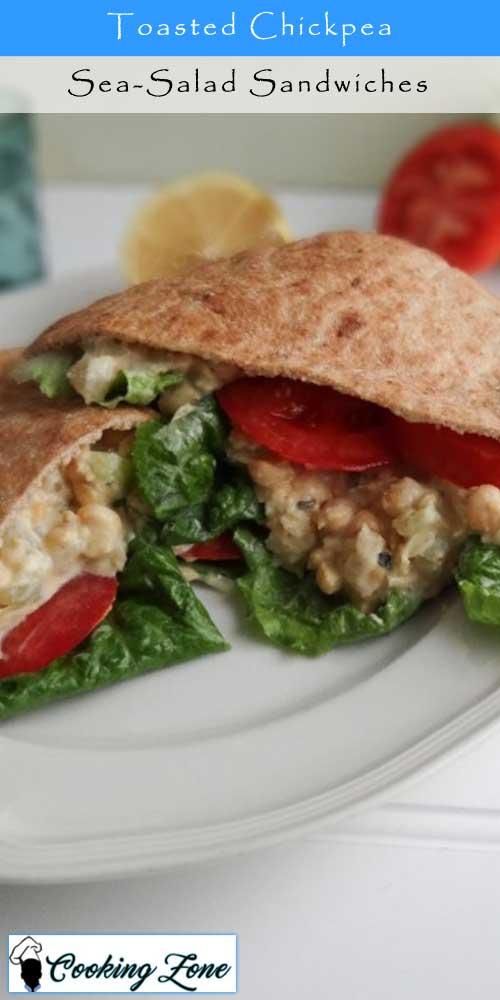 Toasted Chickpea Sea-Salad Sandwiches