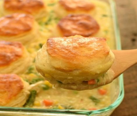 Biscuit Chicken Pot Pie 1
