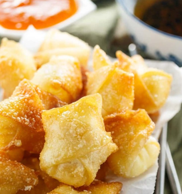 Homemade Fried Wontons