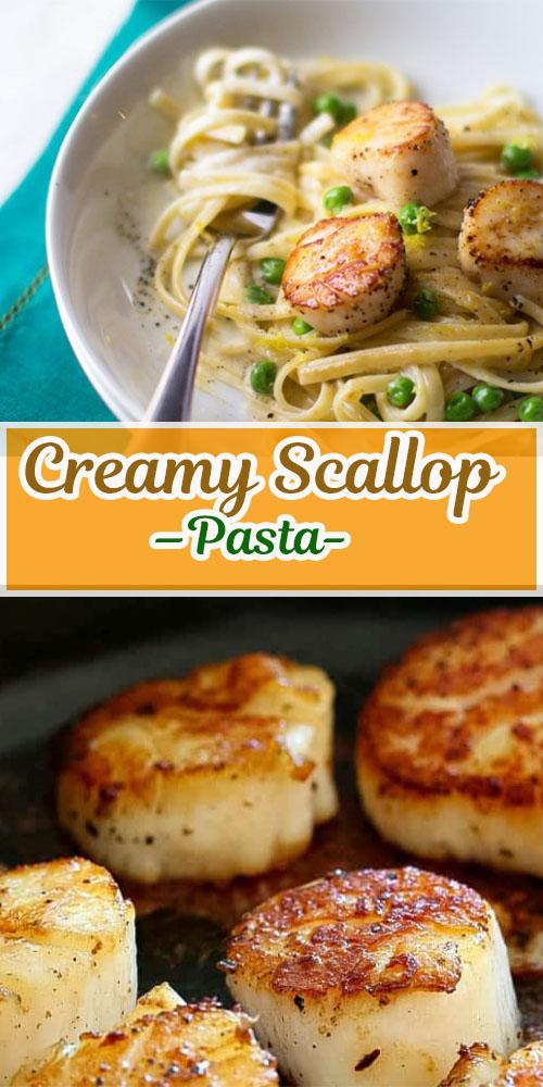 Creamy Scallop Pasta