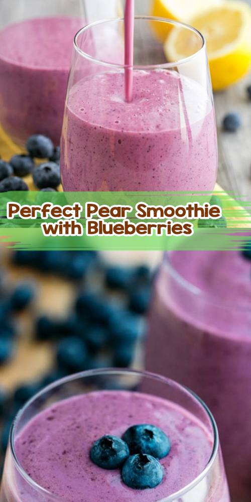 Pear Smoothie with Blueberries